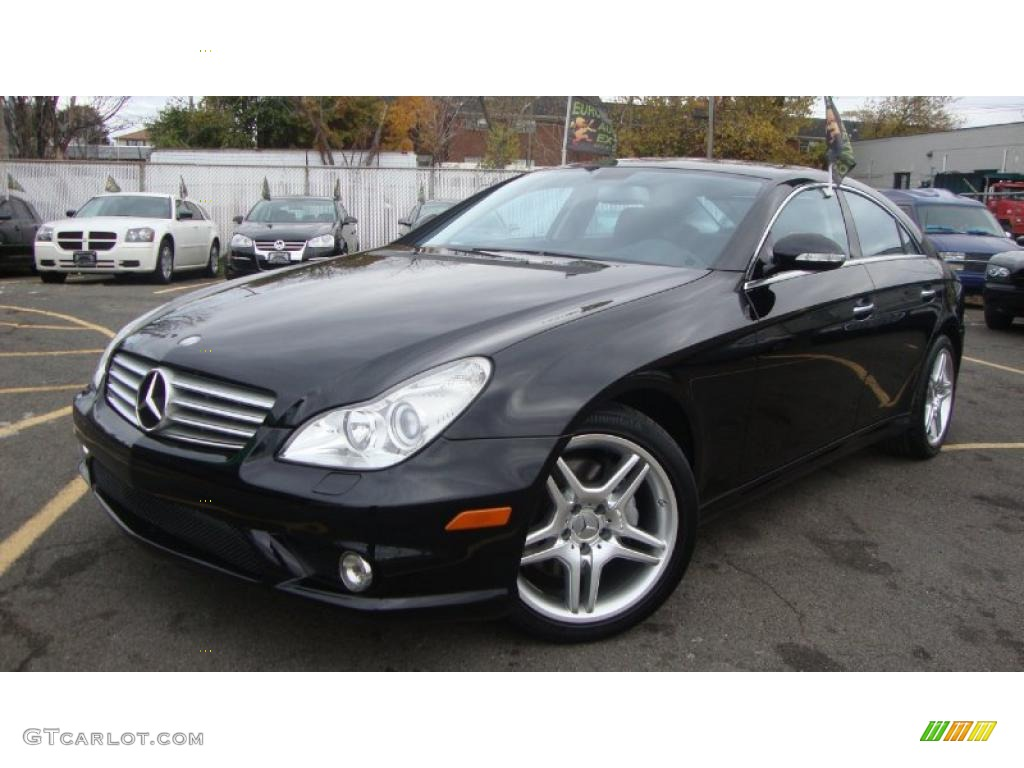 black 2007 mercedes benz cls 550 exterior photo 39643959