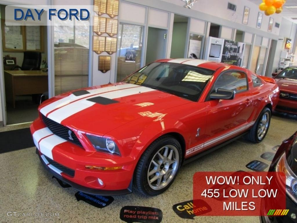 2007 Mustang Shelby GT500 Coupe - Torch Red / Black/Red photo #1