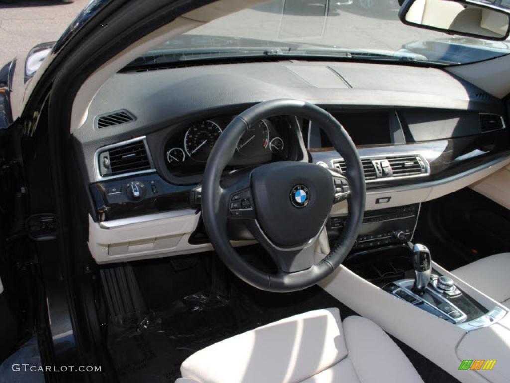 Ivory WhiteBlack Nappa Leather Interior BMW Series I - 2010 bmw 535i gt