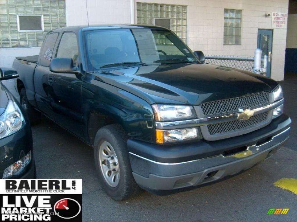 2005 Silverado 1500 LT Extended Cab 4x4 - Dark Green Metallic / Dark Charcoal photo #1
