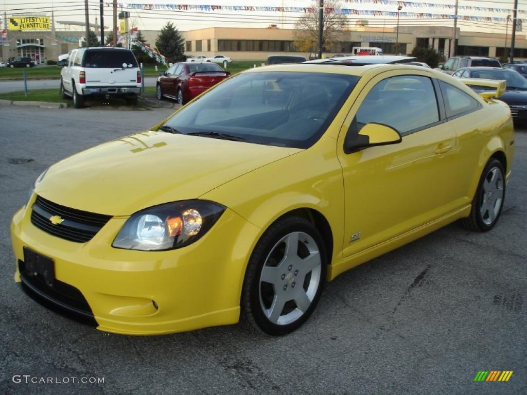 rally yellow 2007 chevrolet cobalt ss supercharged coupe. Black Bedroom Furniture Sets. Home Design Ideas