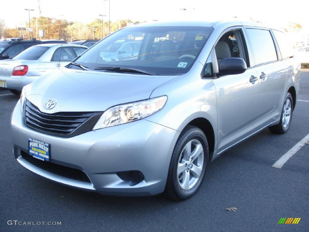 2011 Sienna  - Silver Sky Metallic / Light Gray photo #1