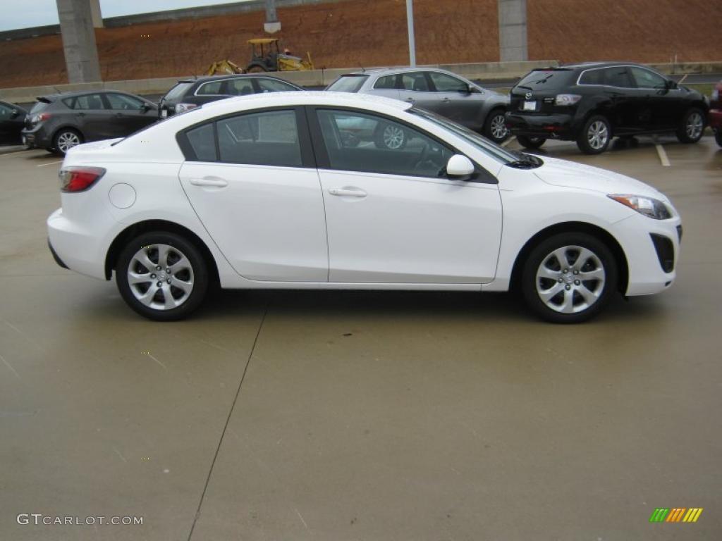 Crystal white pearl mica 2011 mazda mazda3 i sport 4 door for Mazda 3 exterior colors