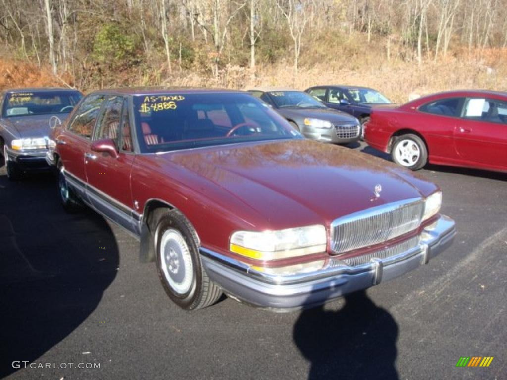 1992 Dark Garnet Red Metallic Buick Park Avenue Ultra Supercharged
