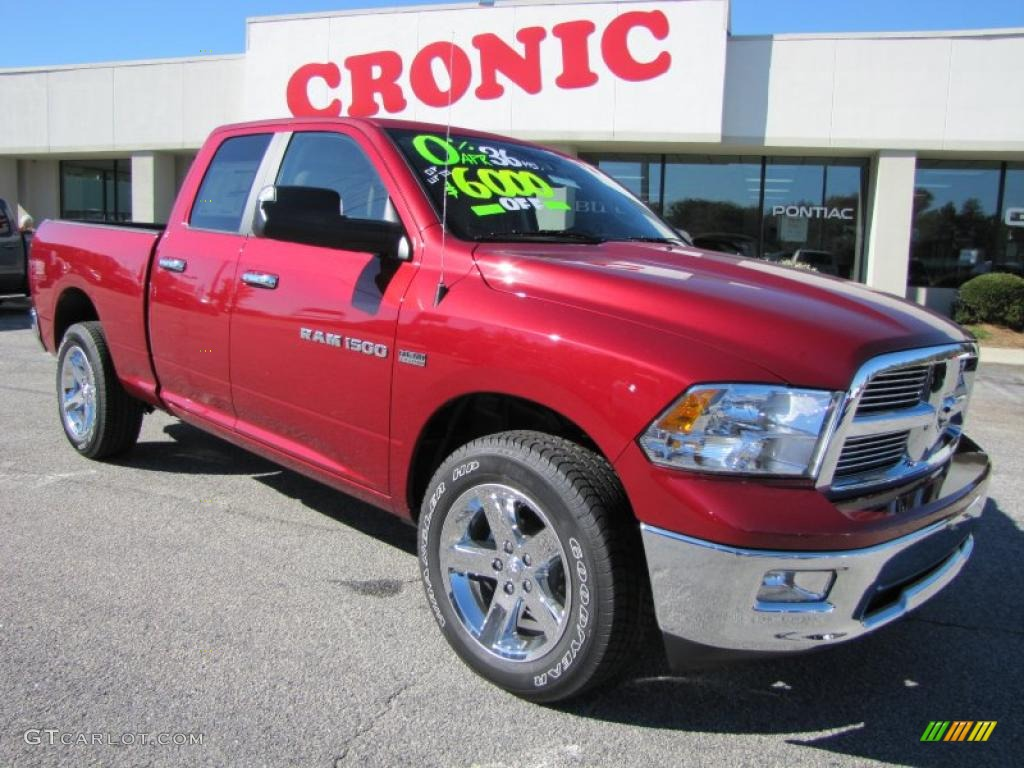 2011 Ram 1500 Big Horn Quad Cab 4x4 - Deep Cherry Red Crystal Pearl / Light Pebble Beige/Bark Brown photo #1