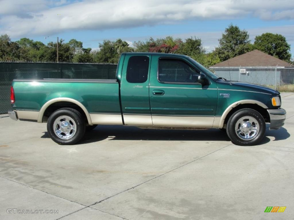 Worksheet. Amazon Green Metallic 2000 Ford F150 Lariat Extended Cab Exterior