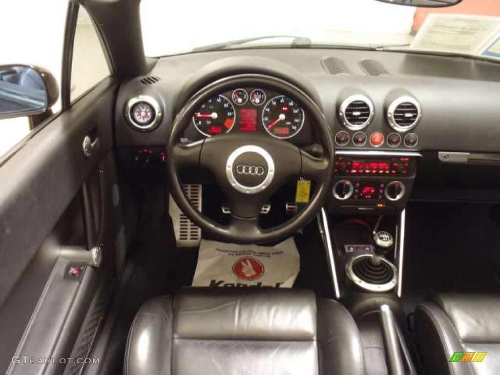 2002 audi tt 1 8t quattro roadster ebony dashboard photo 39743142