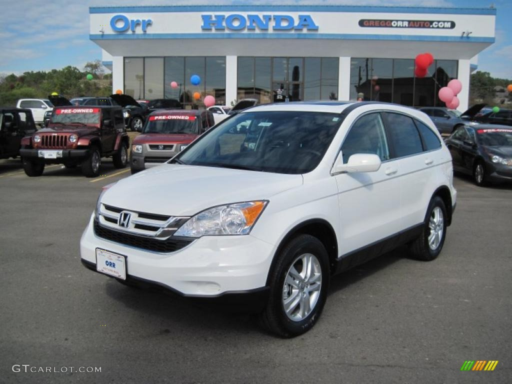 2011 CR-V EX-L - Taffeta White / Gray photo #1