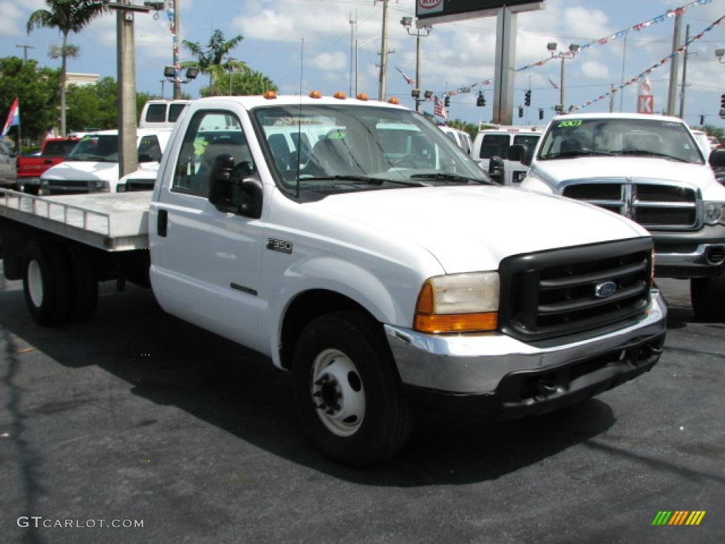 1999 oxford white ford f350 super duty xl regular cab dually flat bed 39740720. Black Bedroom Furniture Sets. Home Design Ideas