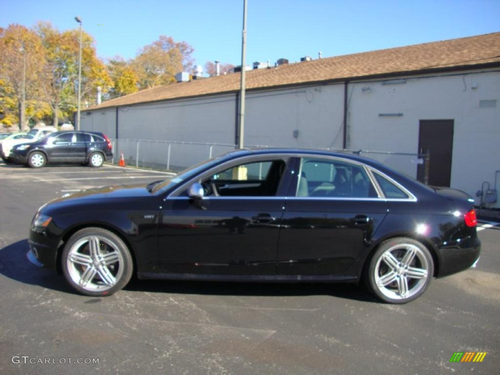 brilliant black 2011 audi s4 3 0 quattro sedan exterior. Black Bedroom Furniture Sets. Home Design Ideas