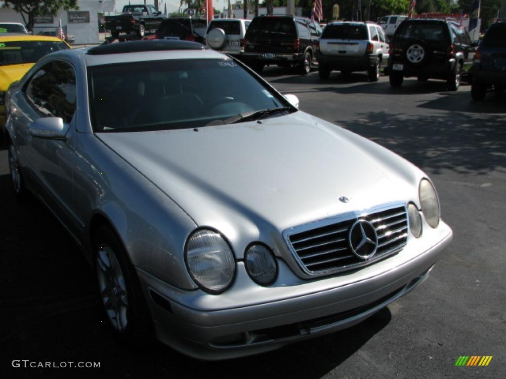 2001 brilliant silver metallic mercedes benz clk 320 coupe 39740739 car color. Black Bedroom Furniture Sets. Home Design Ideas