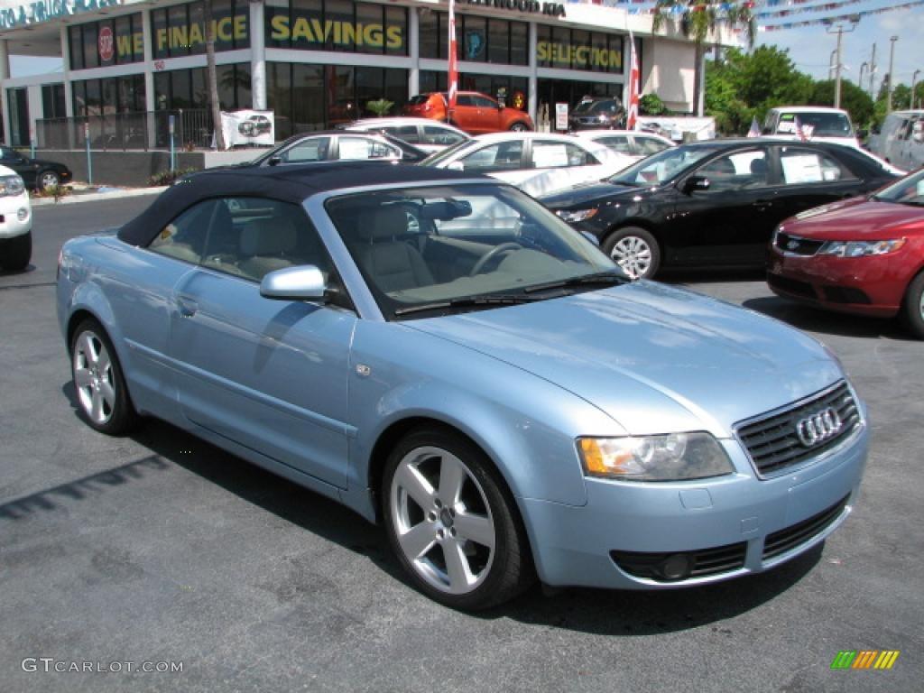 2006 aquamarine blue metallic audi a4 1 8t cabriolet 39740740 car color galleries. Black Bedroom Furniture Sets. Home Design Ideas