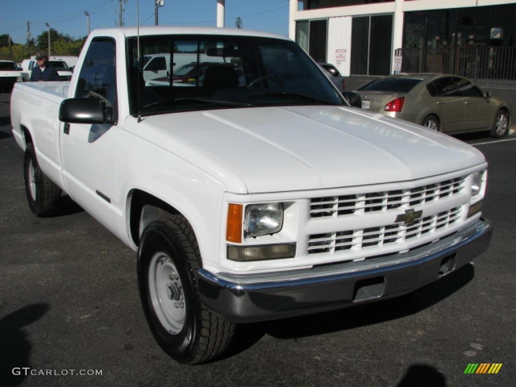 1995 c k 2500 k2500 regular cab 4x4 white blue photo 1
