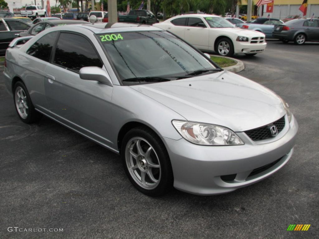 2004 satin silver metallic honda civic ex coupe 39740757