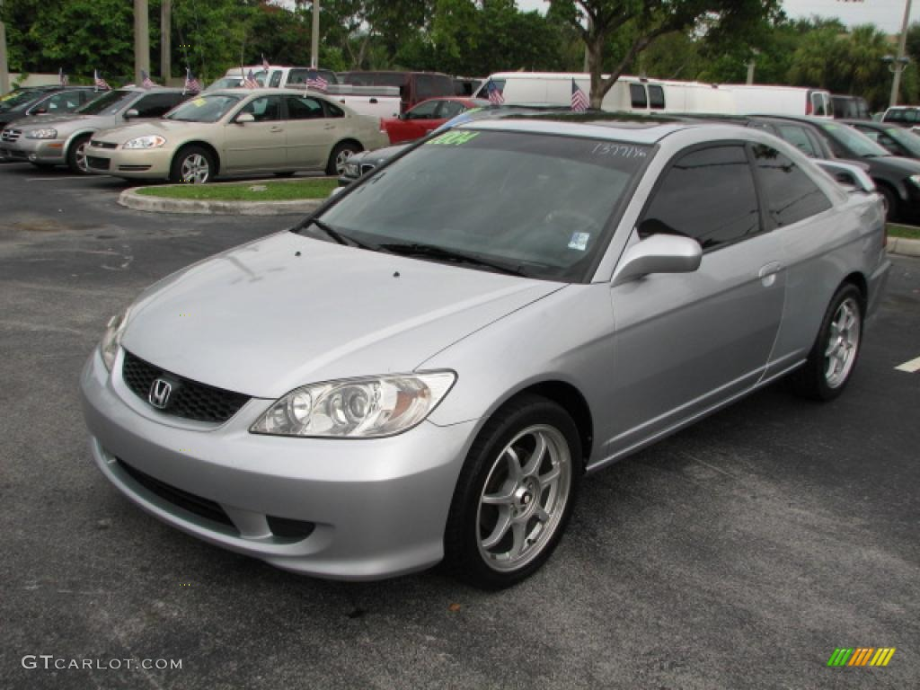 2004 Honda Civic Coupe Ex Satin Silver Metallic 2004 Honda Civic EX Coupe Exterior ...