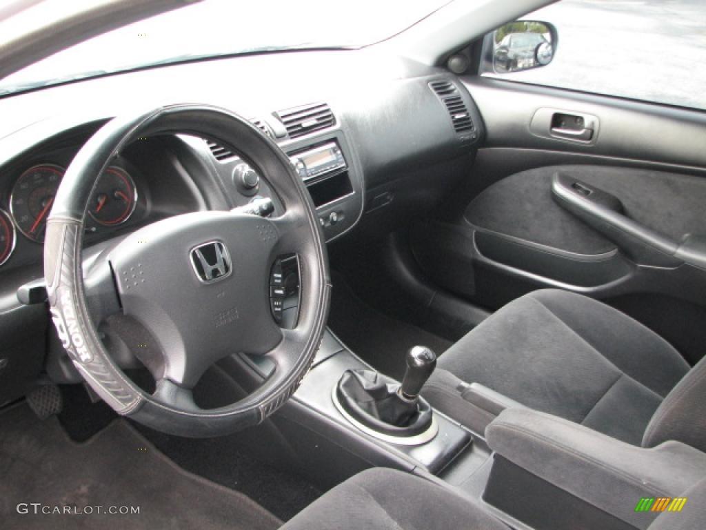 Black Interior 2004 Honda Civic EX Coupe Photo #39774502