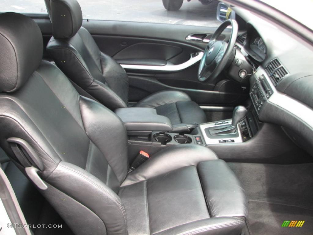 Black Interior 2002 BMW 3 Series 330i Coupe Photo