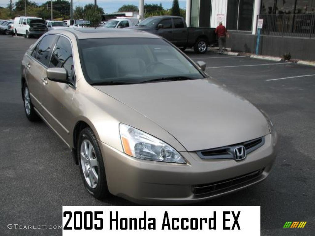 2005 desert mist metallic honda accord ex l v6 sedan. Black Bedroom Furniture Sets. Home Design Ideas