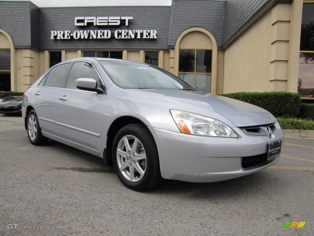 2004 satin silver metallic honda accord ex v6 sedan. Black Bedroom Furniture Sets. Home Design Ideas