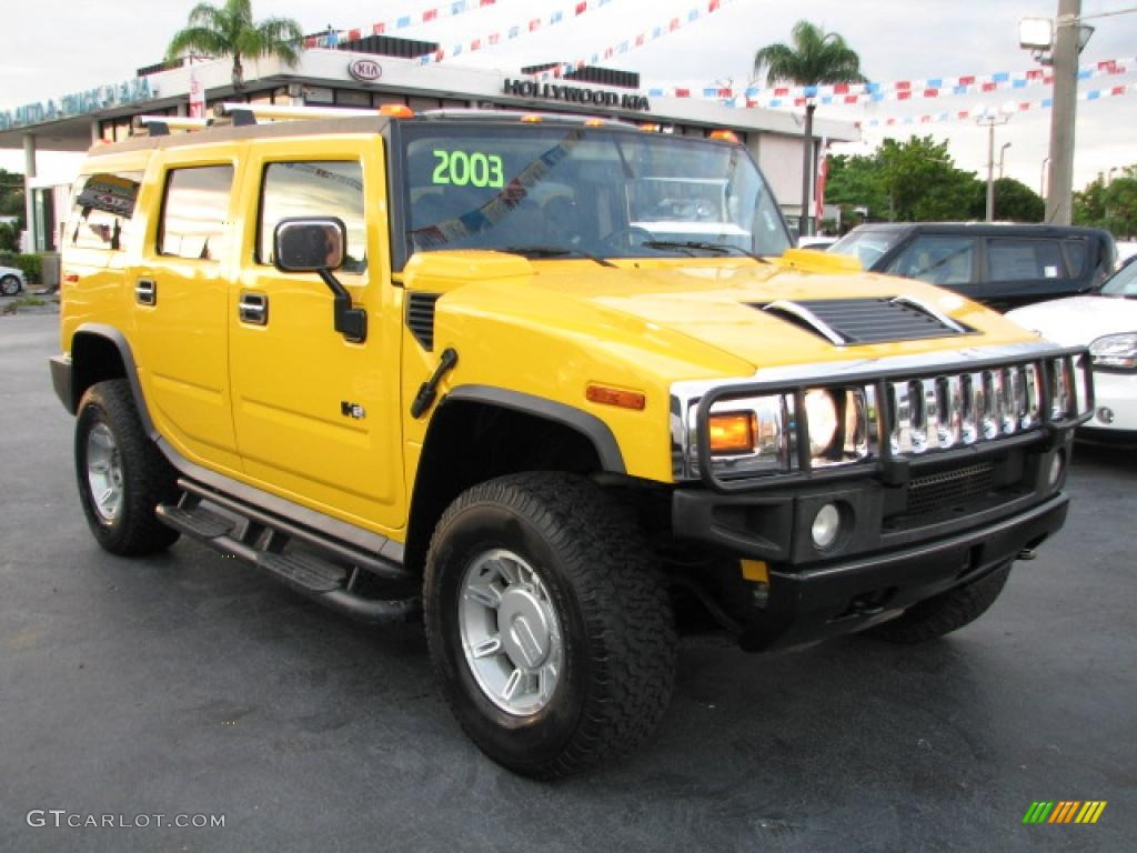 2003 H2 SUV - Yellow / Black photo #1