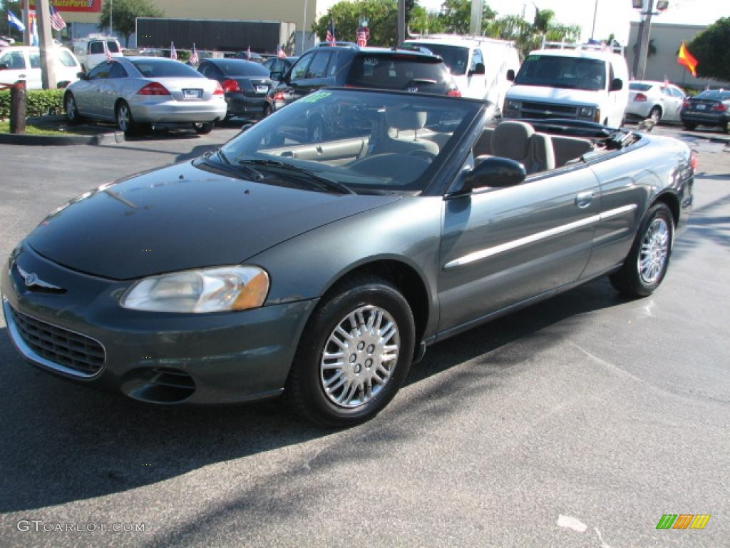 onyx green pearl 2002 chrysler sebring lx convertible exterior photo. Cars Review. Best American Auto & Cars Review