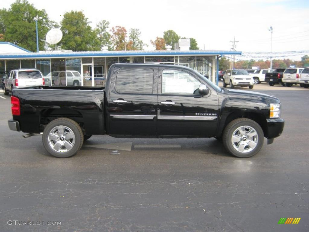 black 2011 chevrolet silverado 1500 lt crew cab exterior photo 39830603. Black Bedroom Furniture Sets. Home Design Ideas