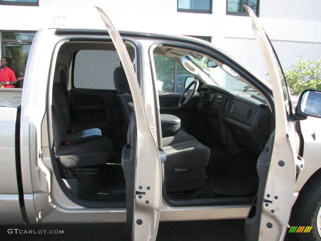 2002 Ram 1500 SLT Quad Cab - Light Almond Pearl / Dark Slate Gray photo #10