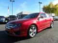 2011 Red Candy Metallic Ford Fusion Sport  photo #6