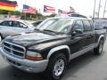 2004 Black Dodge Dakota SLT Quad Cab  photo #5