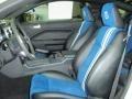 Black/Blue Alcantara 2008 Ford Mustang Interiors