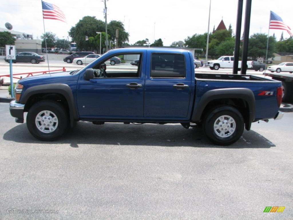 superior blue metallic 2006 chevrolet colorado z71 crew cab exterior photo 39861206. Black Bedroom Furniture Sets. Home Design Ideas