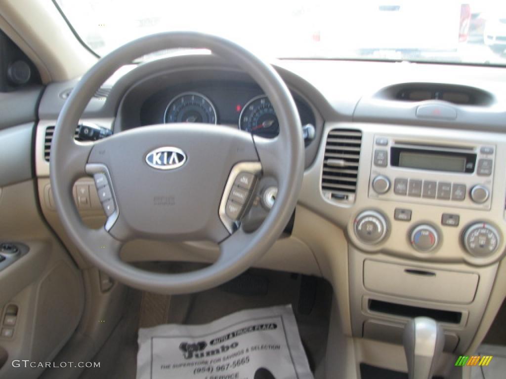 2007 Kia Optima LX Beige Dashboard Photo #39863067