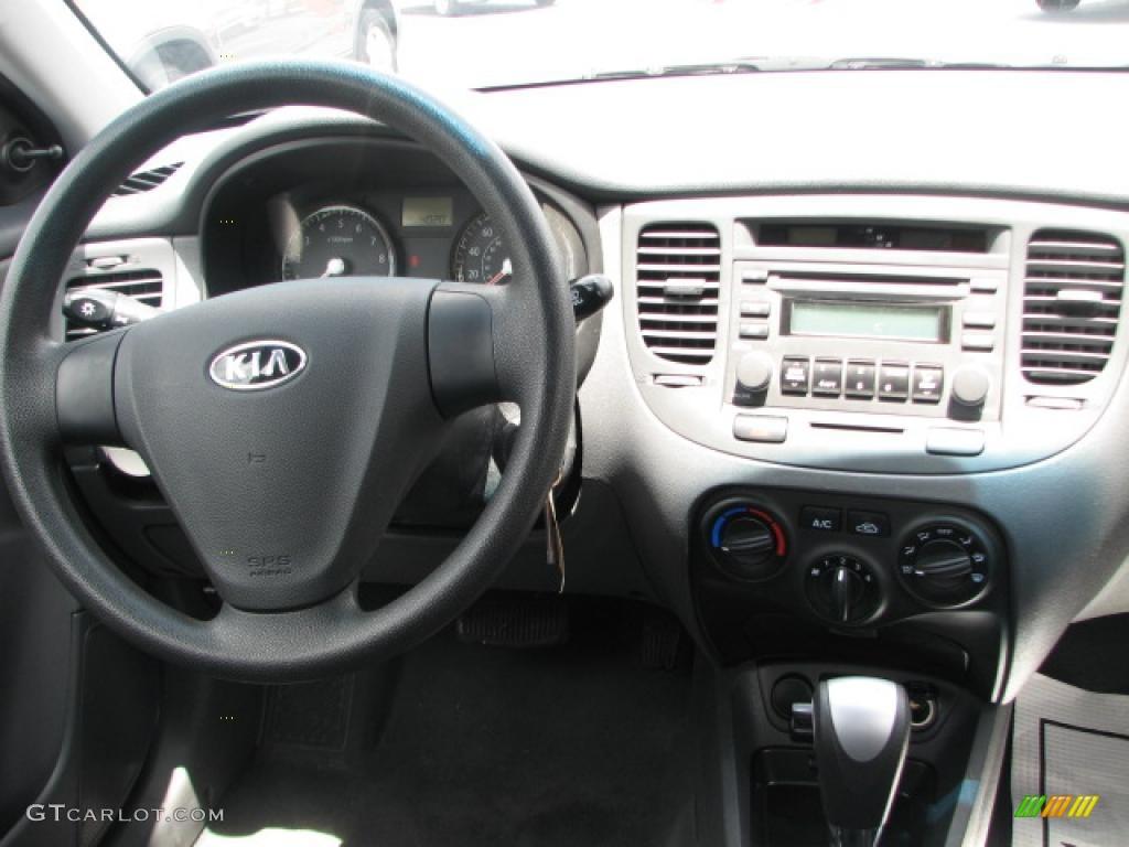 2008 Kia Rio LX Sedan Gray Dashboard Photo #39865295