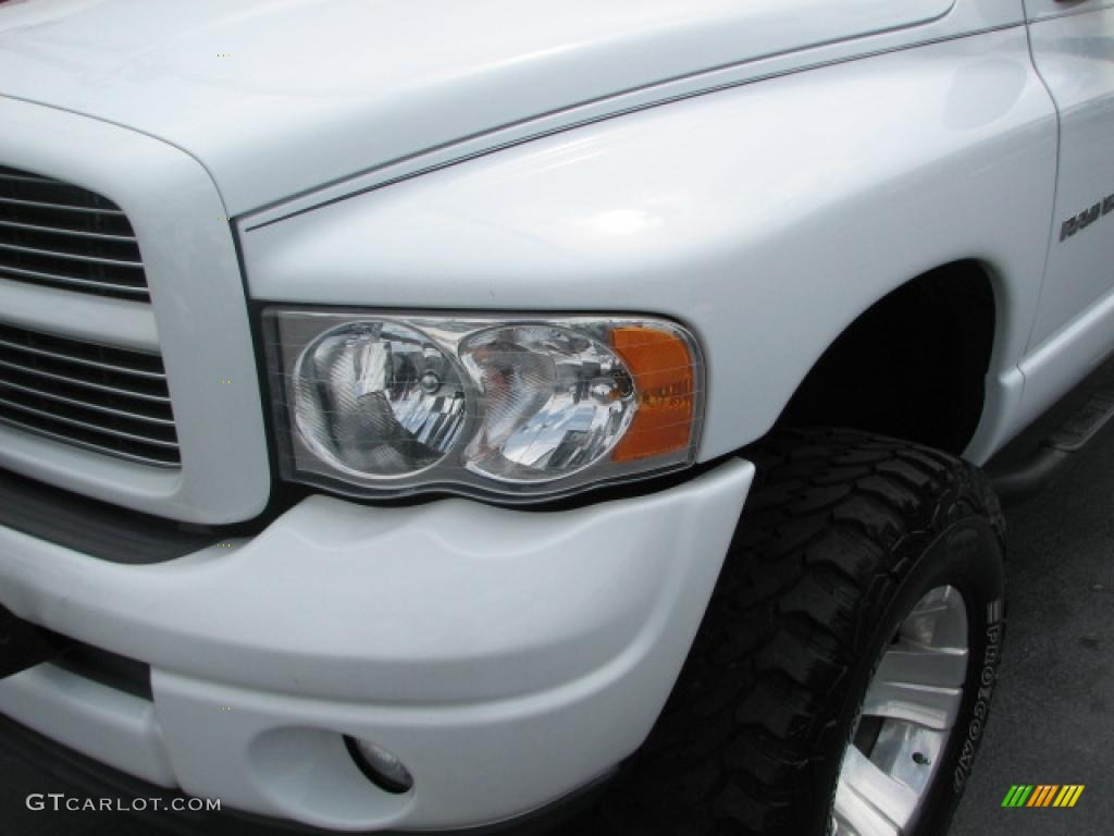 2002 Ram 1500 SLT Quad Cab 4x4 - Bright White / Dark Slate Gray photo #5