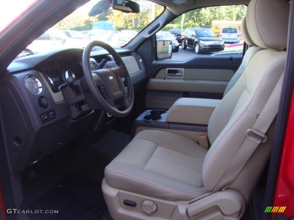 Tan Interior 2010 Ford F150 Xlt Supercrew 4x4 Photo