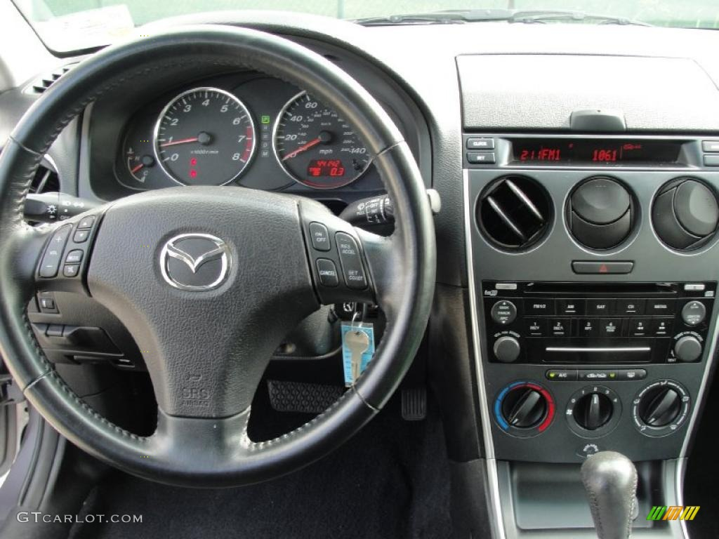 2008 mazda mazda6 i sport sedan black dashboard photo 39872236. Black Bedroom Furniture Sets. Home Design Ideas