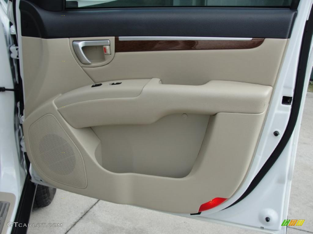 2007 Hyundai Santa Fe Limited Beige Door Panel Photo 39874492