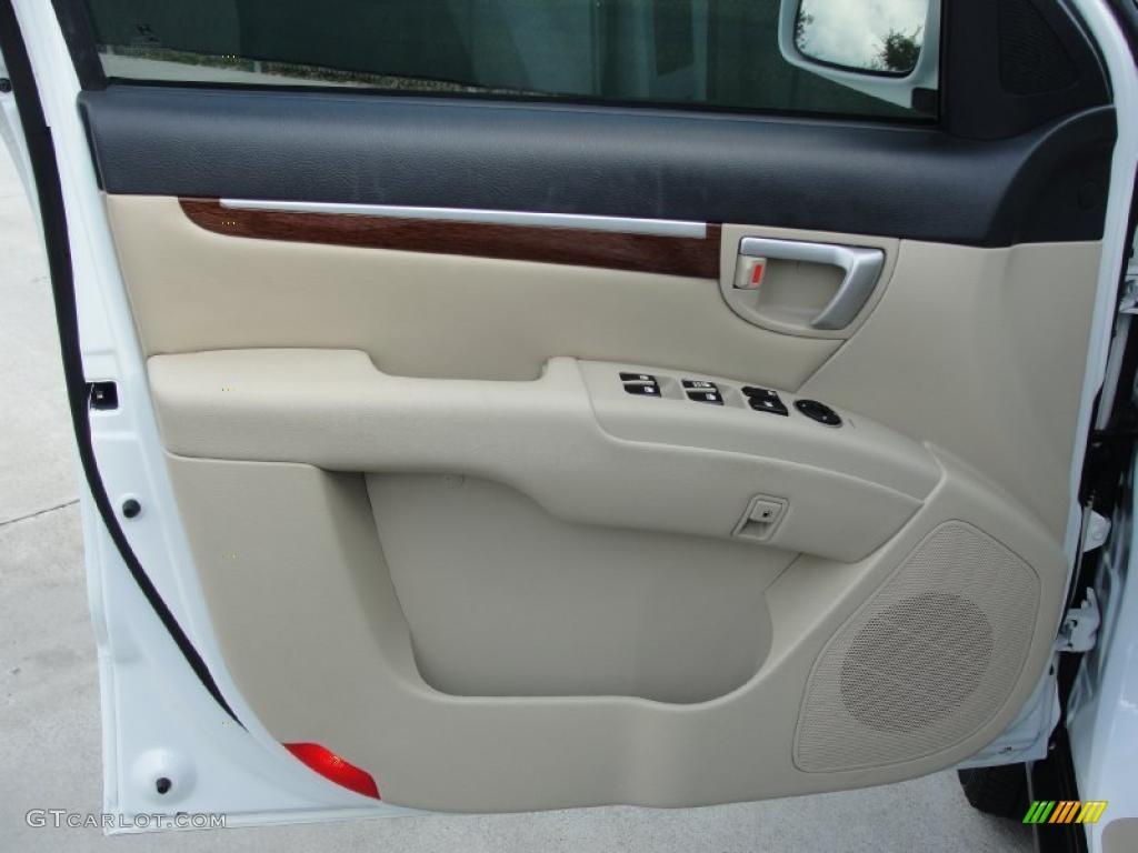 2007 Hyundai Santa Fe Limited Beige Door Panel Photo 39874629