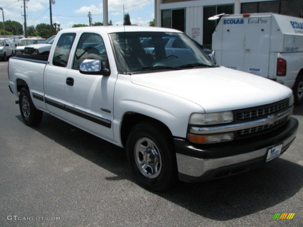 2000 Silverado 1500 Extended Cab - Summit White / Graphite photo #1