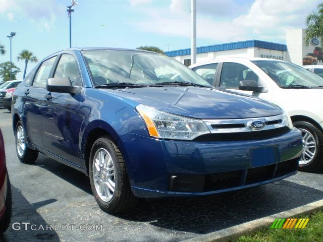2009 Vista Blue Metallic Ford Focus Se Sedan 392596 Car Color Galleries