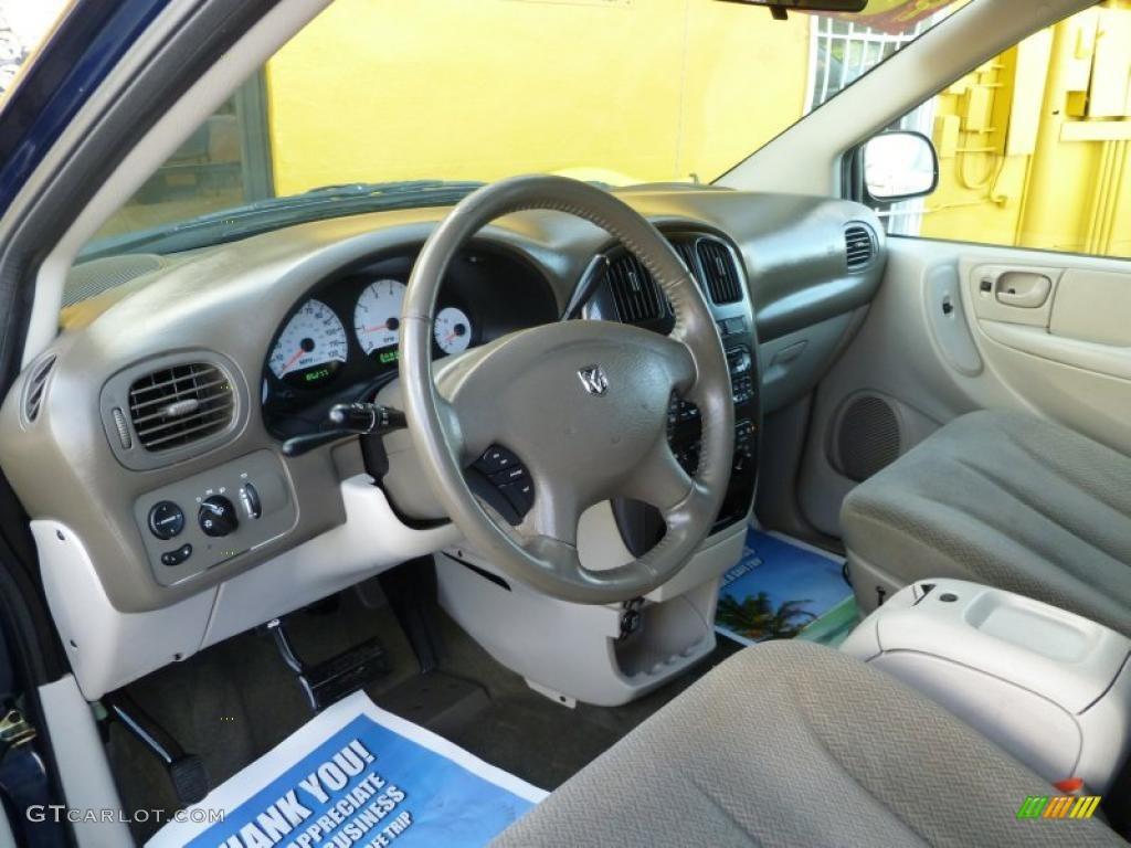 Dark Khaki Light Graystone Interior 2005 Dodge Grand Caravan Sxt Photo 39906695