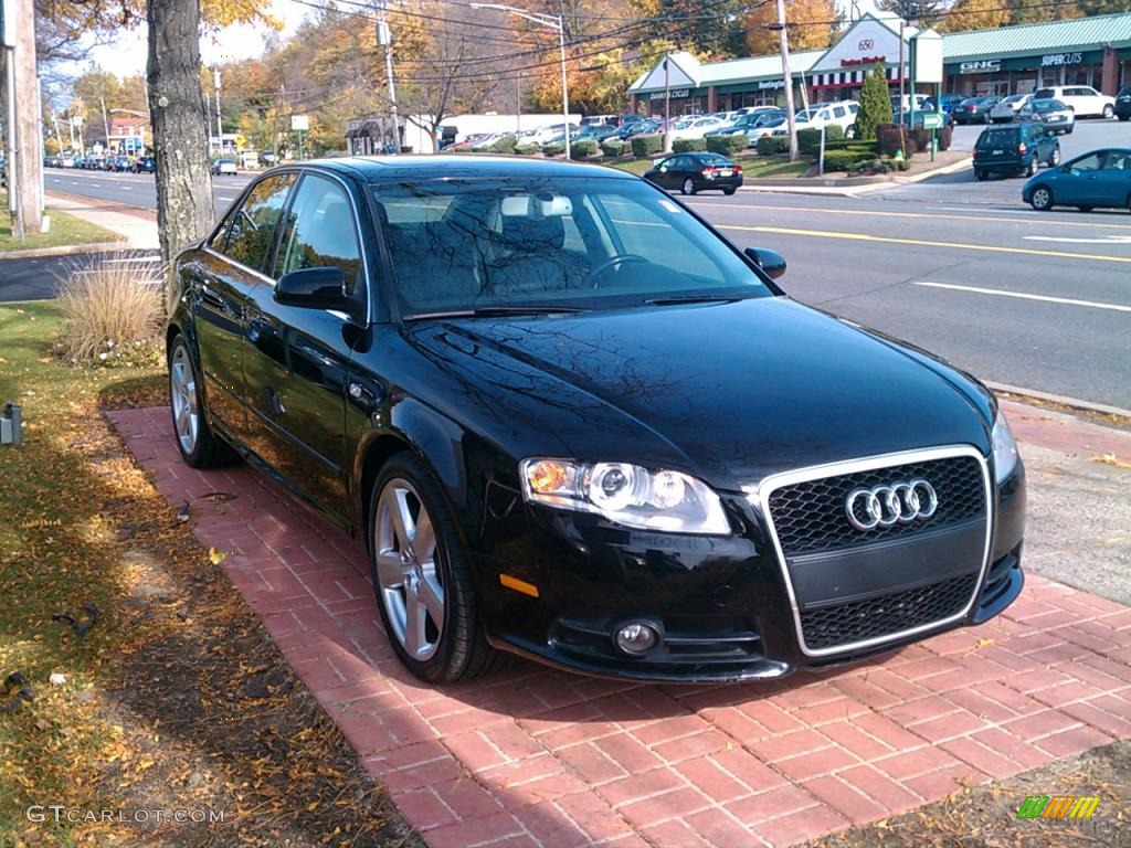 Brilliant Black 2006 Audi A4 2 0t Quattro Sedan Exterior