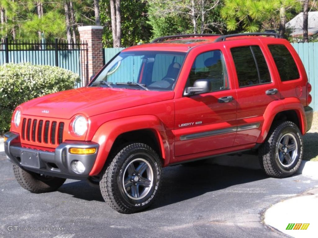 2004 flame red jeep liberty sport 4x4 columbia edition 39924858 car color. Black Bedroom Furniture Sets. Home Design Ideas
