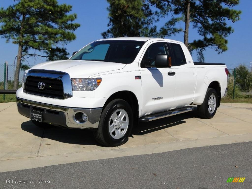 super white 2009 toyota tundra sr5 double cab 4x4 exterior. Black Bedroom Furniture Sets. Home Design Ideas