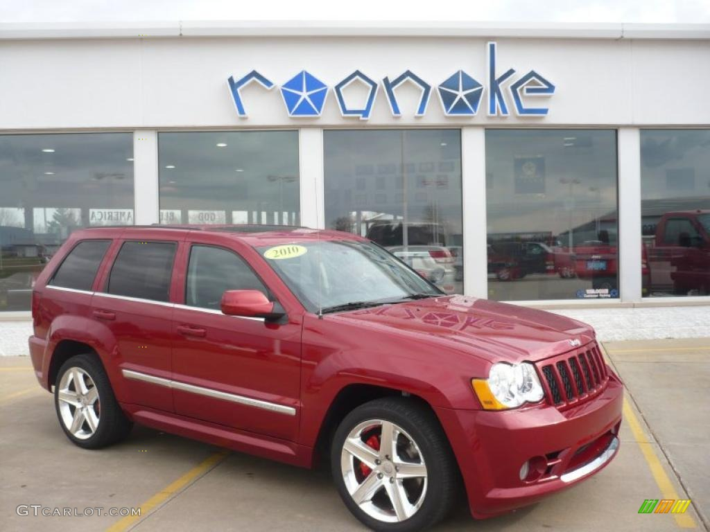 2010 inferno red crystal pearl jeep grand cherokee srt8 4x4
