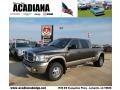 2008 Dark Khaki Metallic Dodge Ram 3500 Laramie Resistol Mega Cab 4x4 Dually  photo #1