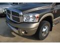 2008 Dark Khaki Metallic Dodge Ram 3500 Laramie Resistol Mega Cab 4x4 Dually  photo #16
