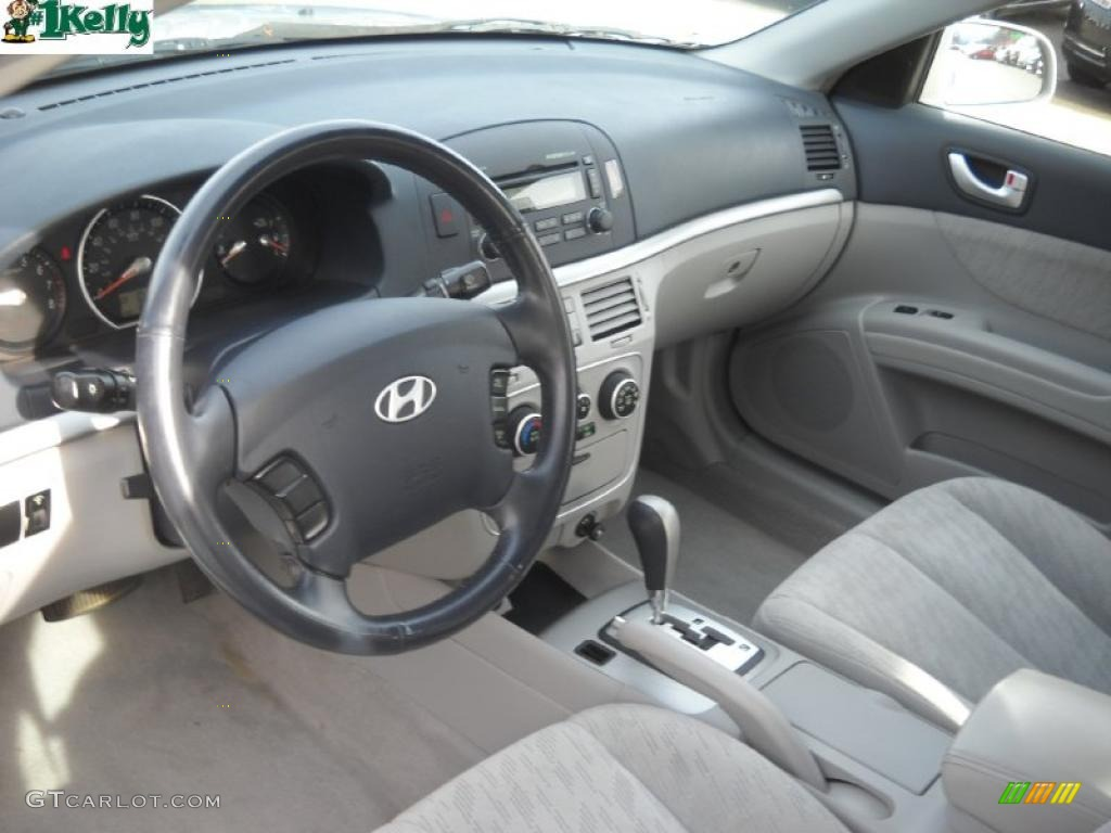 Gray Interior 2006 Hyundai Sonata Gl Photo 39987696