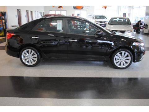 Ebony Black Kia Forte in 2011. Ebony Black