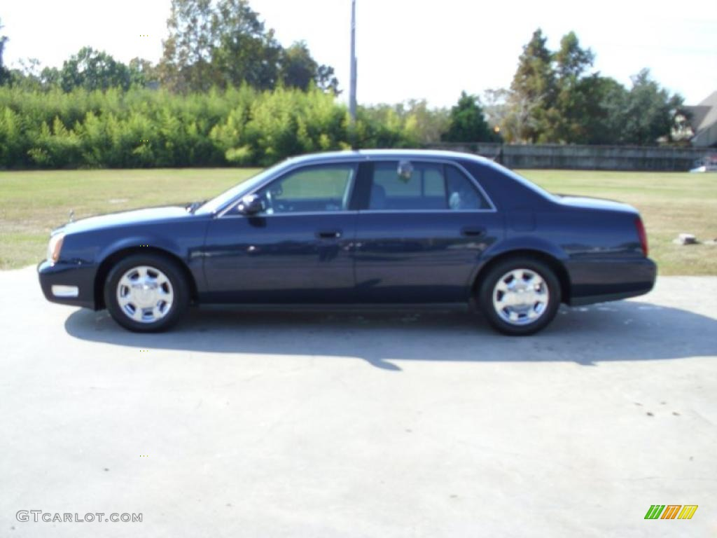 2002 Blue Onyx Metallic Cadillac DeVille Sedan #40004755 Photo #6 | GTCarLot.com - Car Color ...